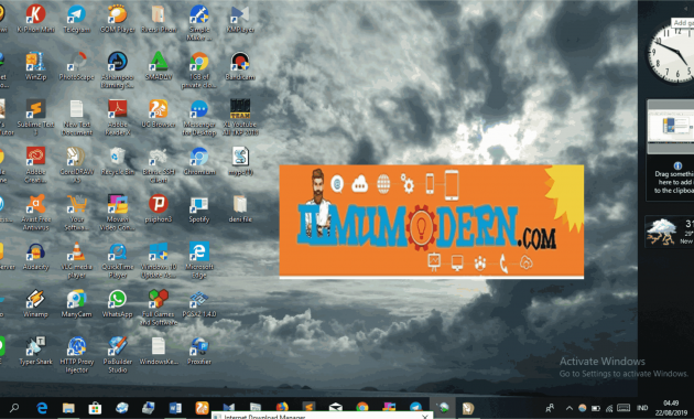 Desktop Widget Berupa Jam Kalender di Windows 8,8.1,dan10
